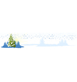 Christmas tree card banner vector image vector image