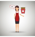 woman chef food meal vector image