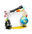 Education and Science frame vector image vector image