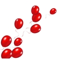 Red festive balloons background vector image