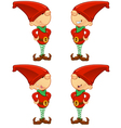 Red Elf Hands On Hips vector image