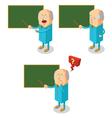 Professor teaching class vector image