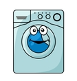 Washing machine cartoon vector image
