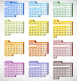 2013 Perspective Calendar vector image