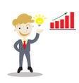 businessman with idea for business vector image