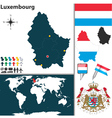 Luxembourg map vector image vector image