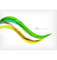 Green and red line swirls vector image