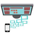 Smartphone on a Desktop vector image