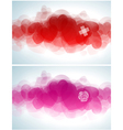 Abstract Valentines day design vector image