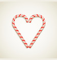 candy canes shape of heart vector image