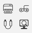 computer icons set collection of laptop joystick vector image