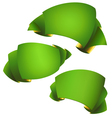 green banners set vector image