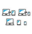 Responsive design - laptop tablet smarthone vect vector image