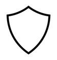 shield line icon vector image