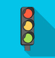 traffic light for vehiclescar single icon in flat vector image