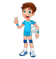Young volleyball player vector image