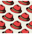 Red hat retro seamless background vector image vector image