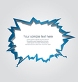 Hole with cracks vector image