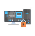 data center protection icon hosting server vector image