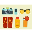 Summer vacation attributes vector image