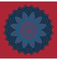 Oriental mandala motif round lase pattern like vector image