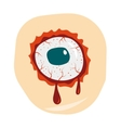 Cartoon doodle zombie eyes demon blood vector image