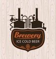 brewery on the background of wooden boards vector image vector image