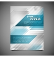 abstract business brochure template geometric vector image