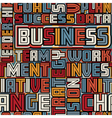 Business words seamless tile vector image