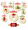 Christmas design icons set background vector image