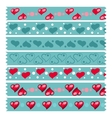 Heart Tape Pattern vector image