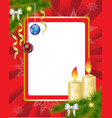 Red Christmas Frame vector image