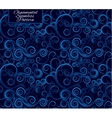 Seamless pattern with curls Blue ornament vector image