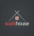 sushi menu house concept design background vector image