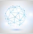 wireframe 3d mesh polygonal sphere vector image
