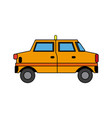 yellow taxi car transport public service vector image