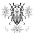 Boho tattoo vector image