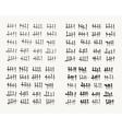 Waiting counting tally marks vector image