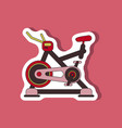 paper sticker on stylish background bicycle vector image