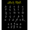 Witch font and numbers vector image