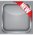 Blank app icon with new ribbon vector image vector image