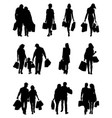 people in the shopping vector image