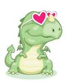 dragon in love vector image vector image