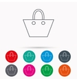 Ladies handbag icon Elegance women accessory vector image