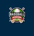 baseball tournament emblem vector image