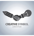 Creative and idea symbol vector image