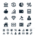 Financial investment icons vector image
