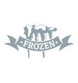 frozen logo simple gray style vector image