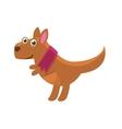 Kangaroo Wearing Purple Scarf vector image
