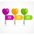 Set of darts option banner vector image